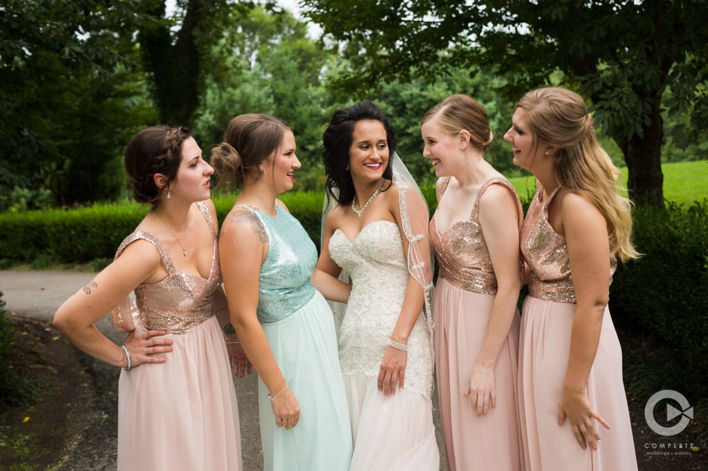 Fun with bride and bridesmaids