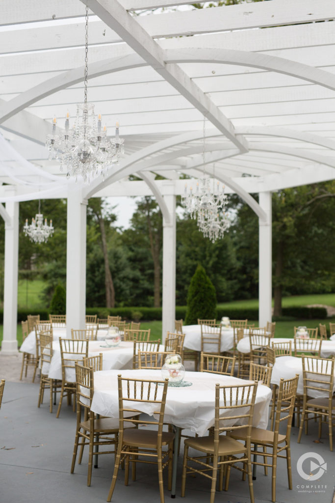 all white reception patio inspiration
