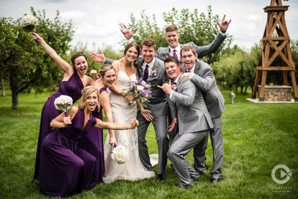 purple wedding party complete weddings and events