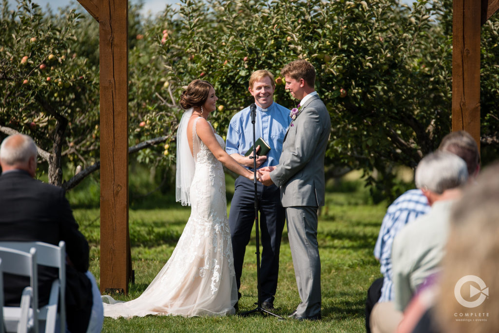 outdoor ceremony vows