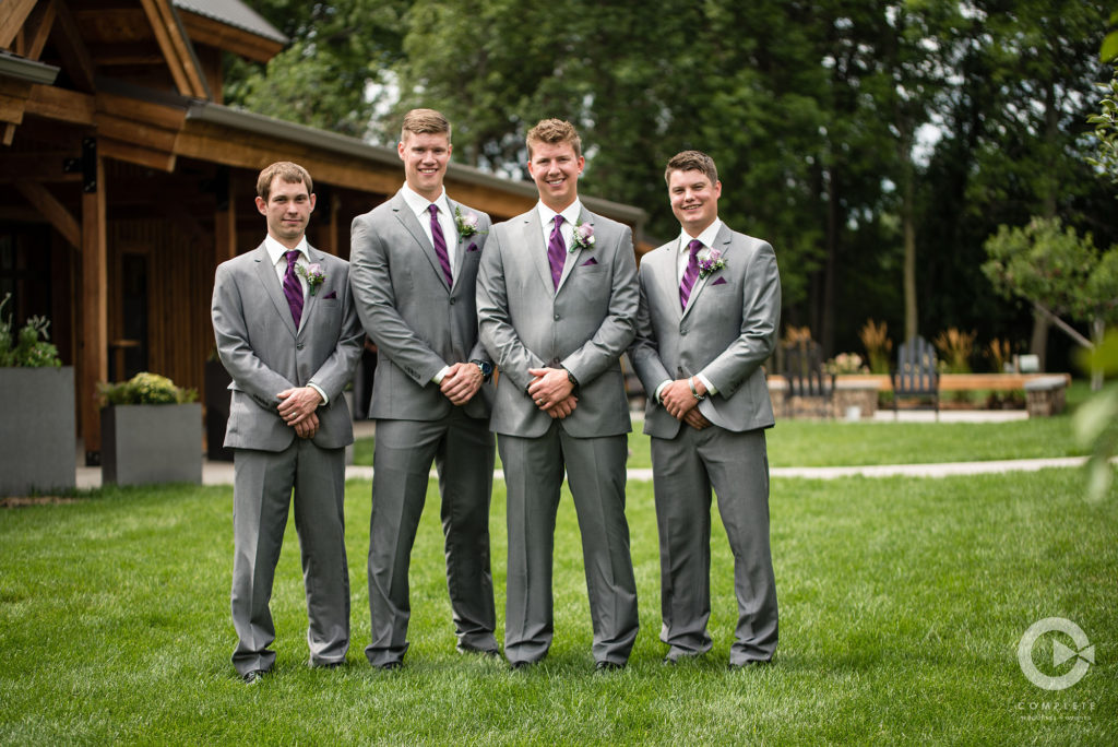 groomsmen purple wedding
