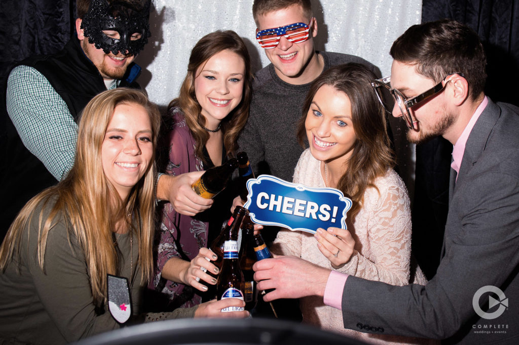Cheers in the Photo Booth