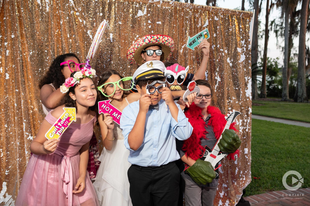 Photo Booth with Children and Kids Birthday