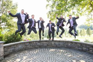 Woodstone Estates, groomsmen, jumping photos