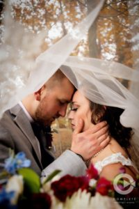 under the veil shot, pennsylvania lovers, fall wedding