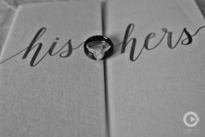 his and hers, ring shot, black and white, dreamy pennsylvania photography