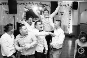 happy groomsemen, dancing groomsmen, dancing the night away