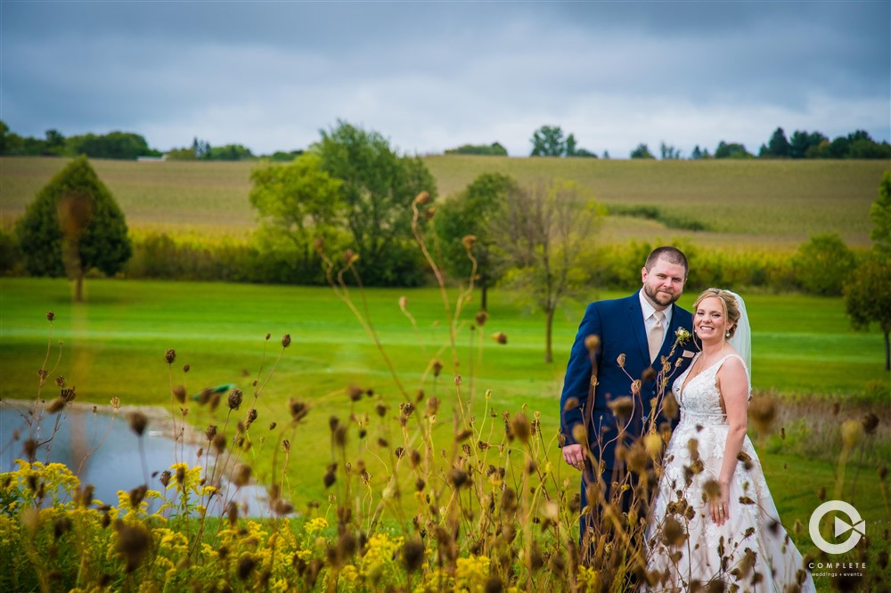 Milwaukee Fall Wedding Gorgeous landscape photo at 13 East Event Center
