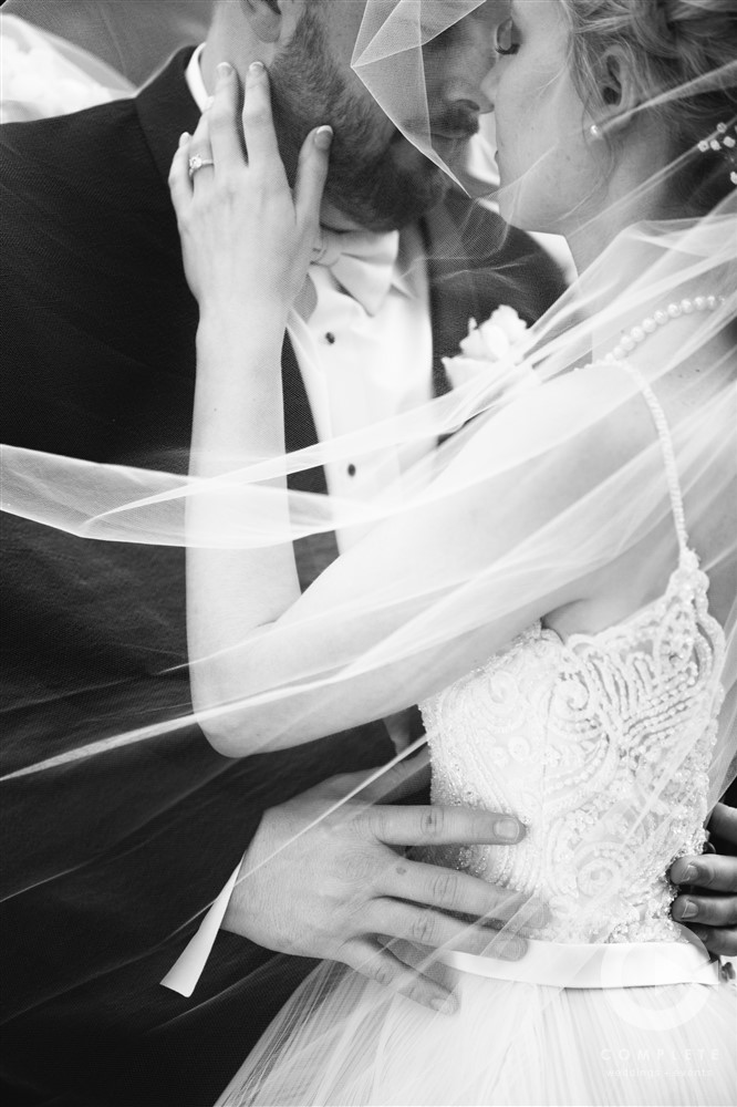 Wedding Details Done Right Black and White Photo