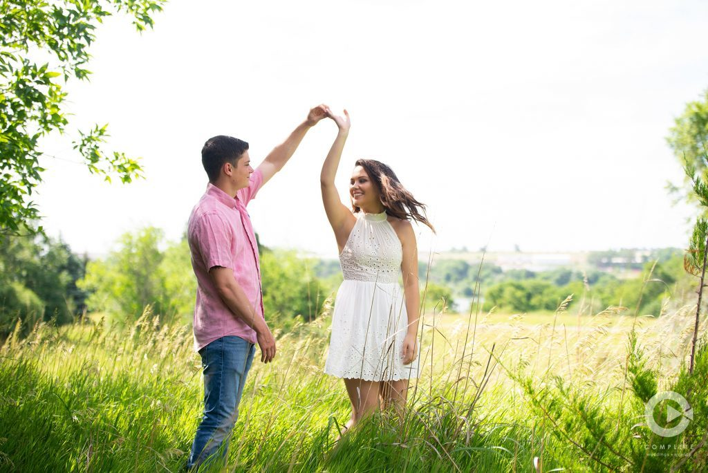 Outdoor Nebraska Engagement Photography