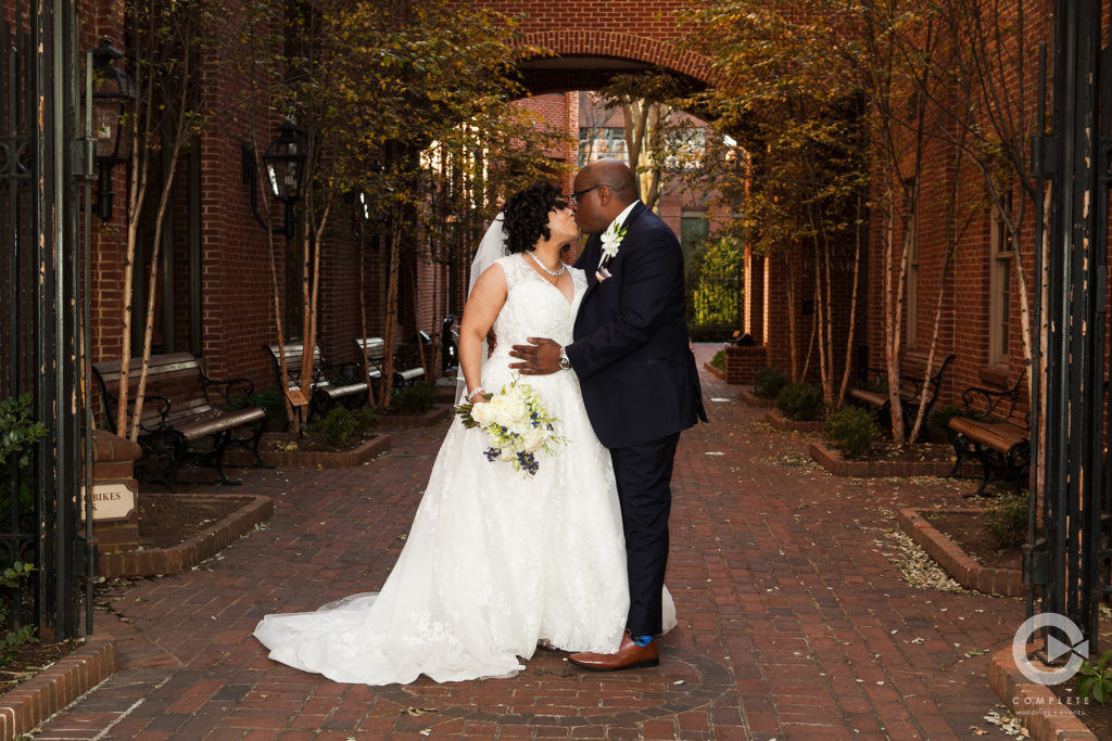 Downtown Wedding Photo of Bride and Groom