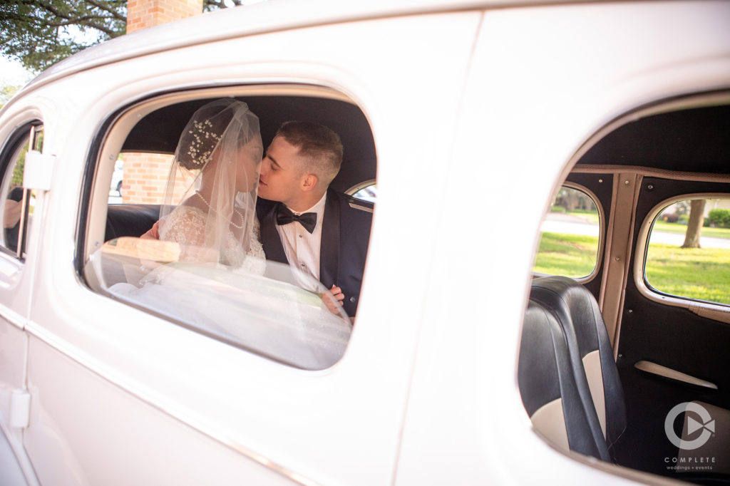 Wedding Kiss in Car