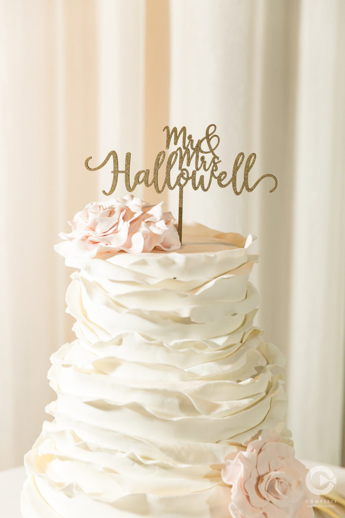 Texture Wedding Cake Florals and Topper